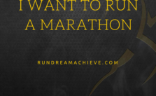 I want to run a marathon