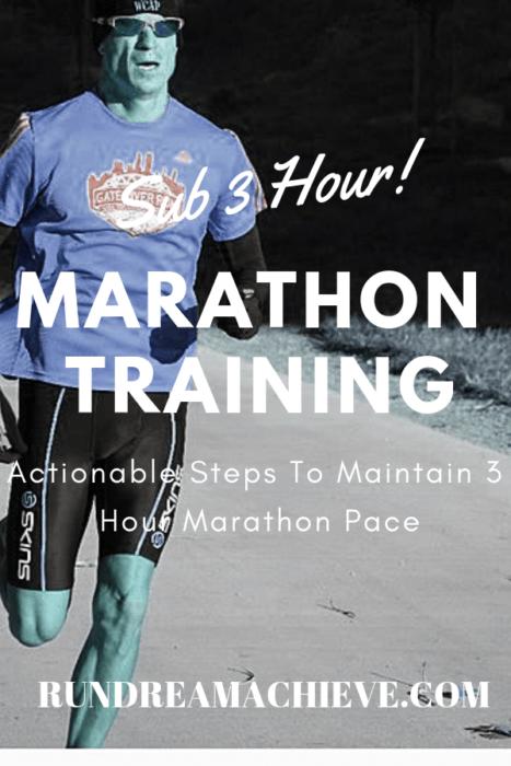 3 hour marathon training