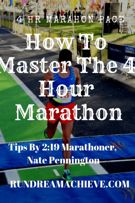 4 hr marathon pace