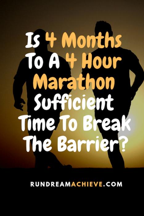 4 months to a 4 hour marathon