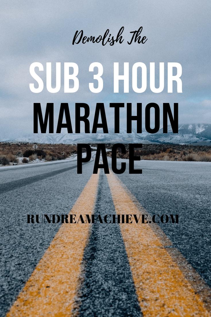 sub 3 hour marathon pace