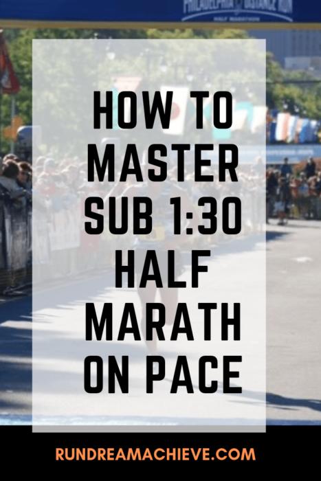 1:30 half marathon pace