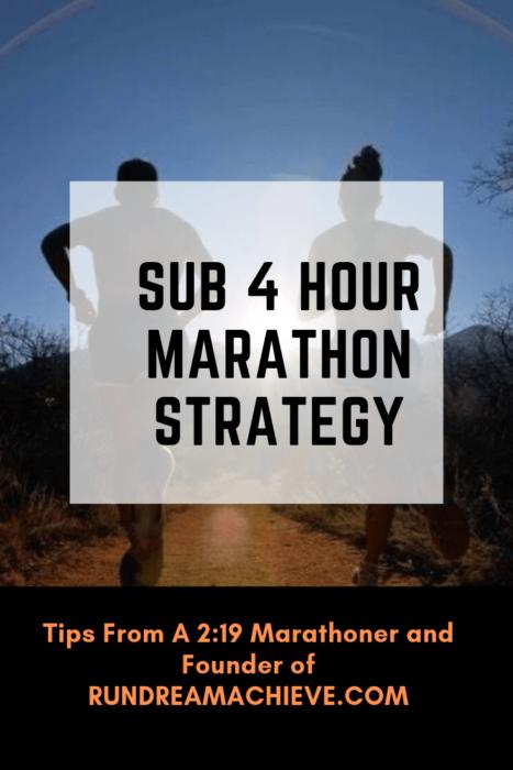 sub 4 hour marathon strategy
